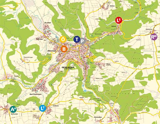 Karte: Alle Baugebiete