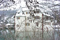 Wasserschloss durch Bäume Winter 2003